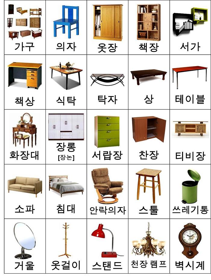 лексика мебель карточки-2