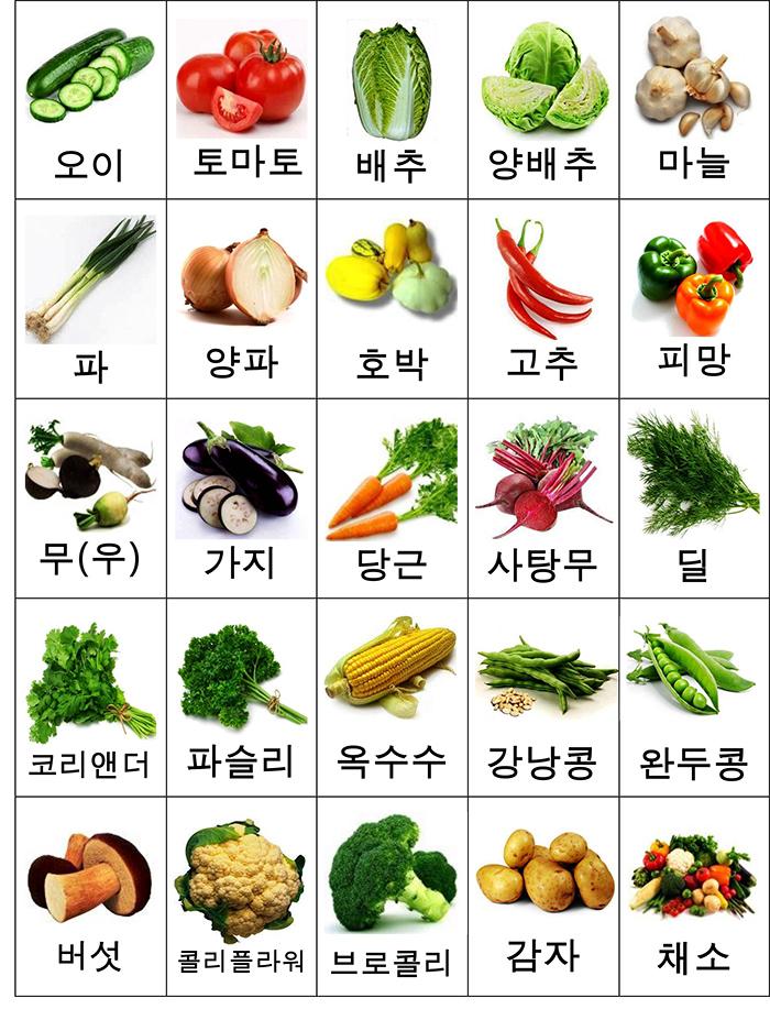 лексика овощи карточки-2